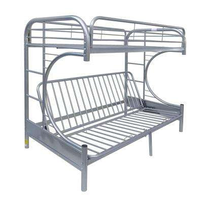 Eclipse Twin Over Silver Queen Metal Kids Bunk Bed