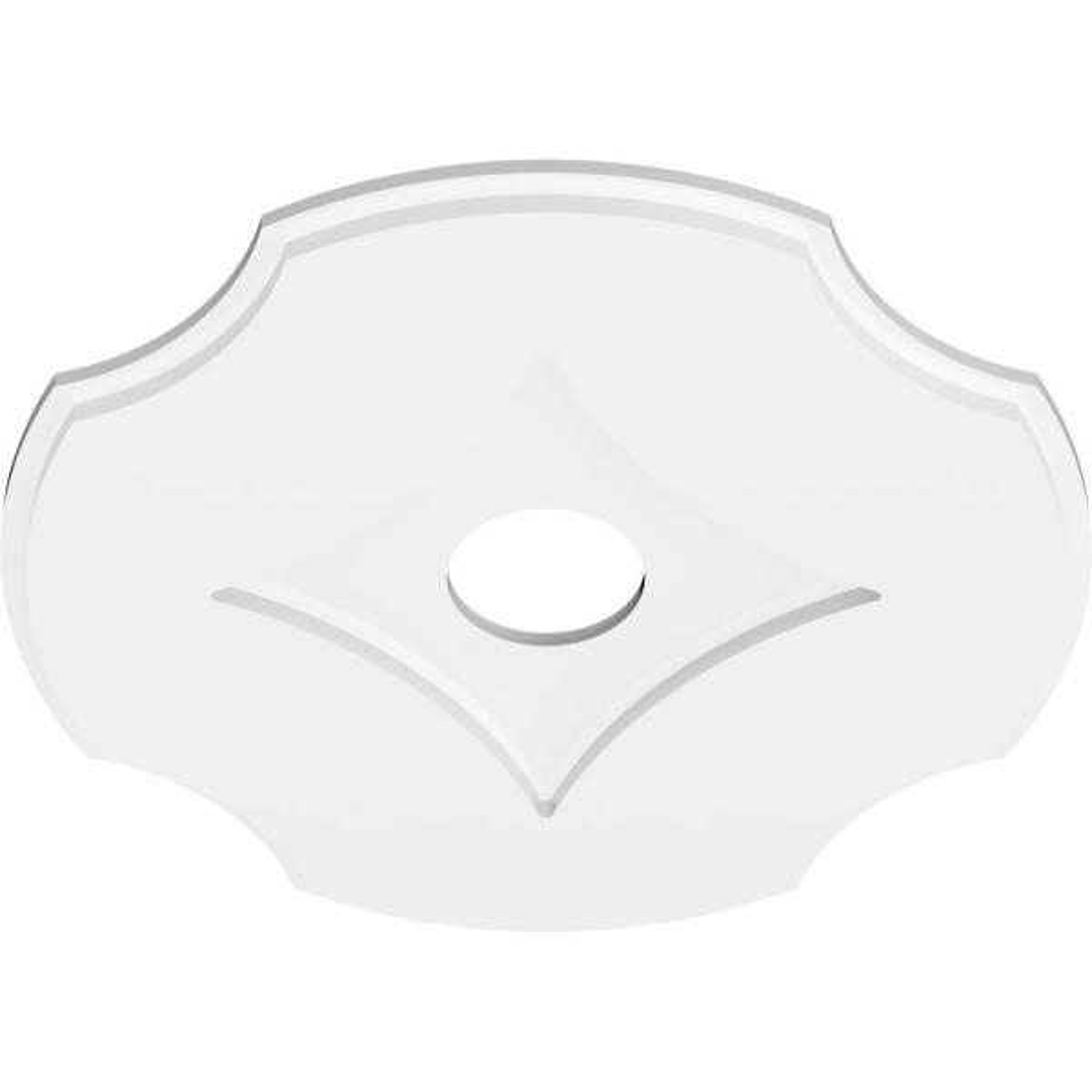 Ekena Millwork 1 In P X 7 1 2 In C X 22 In Od X 4 In Id Percival Architectural Grade Pvc Contemporary Ceiling Medallion Cmp22pl 04000 The Home Depot