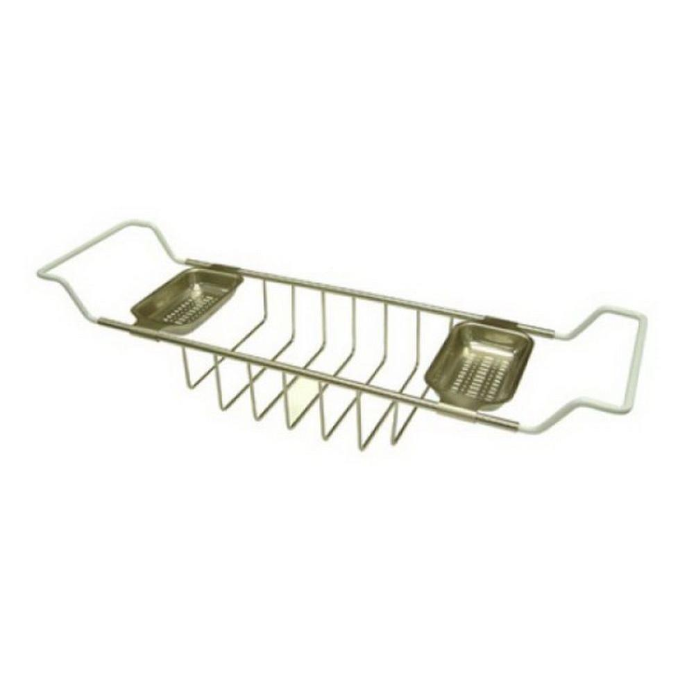 Kingston Br Claw Foot Bathtub Caddy In Satin Nickel
