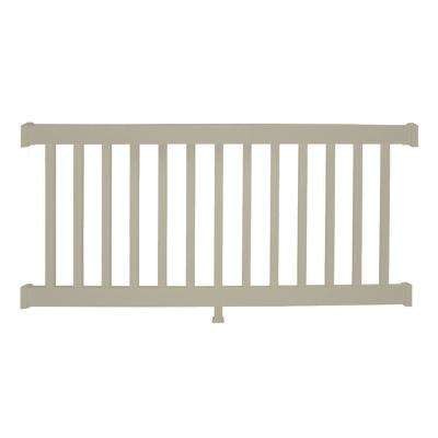 Walton 3 ft. H x 6 ft. W Khaki Vinyl Railing Kit