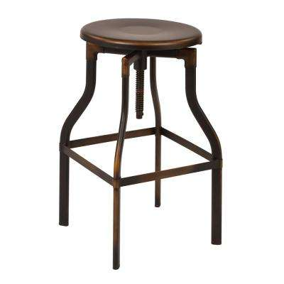 "Eastvale 30"" Metal Barstool In Antique Copper"