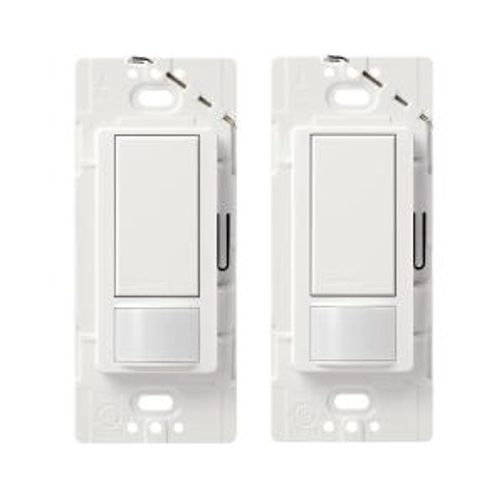 Maestro Motion Sensor Switch, 2 Amp, Single-Pole, White (2-Pack)