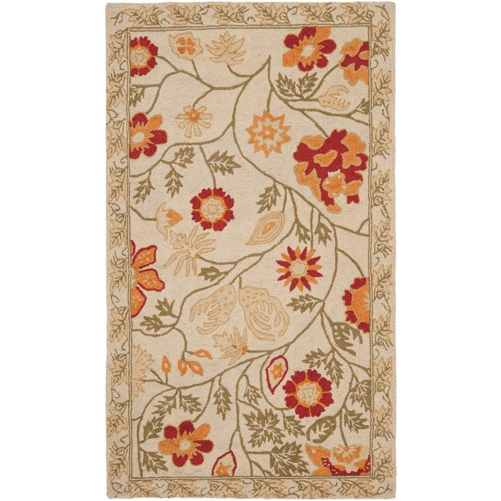 Chelsea Ivory/Green 3 ft. x 5 ft. Area Rug