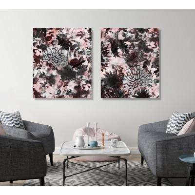 "21 in. x 25 in. ""Flower Storm I"" Framed Painting Print on Wrapped Canvas"