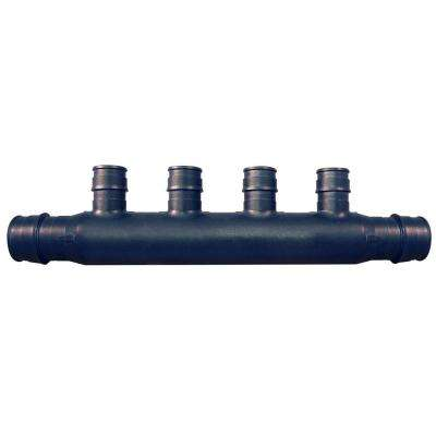3/4 in. Poly-Alloy PEX-A Expansion Barb Inlets x 1/2 PEX-A Expansion Barb 4-Port Open Manifold