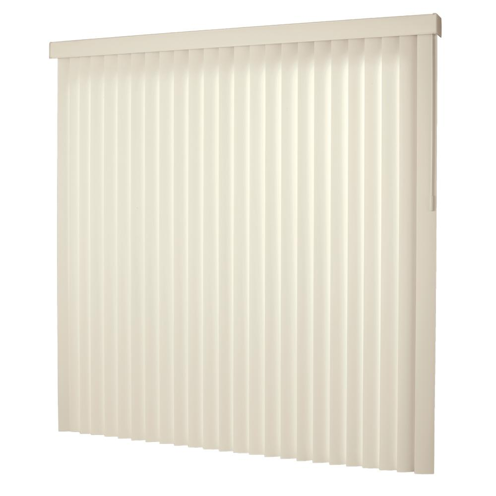 Hampton Bay 3 5 In W X 102 In L Ivory 3 5 Vertical Blind