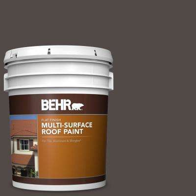5 gal. #RP-31 Chaparral Brown Flat Multi-Surface Exterior Roof Paint