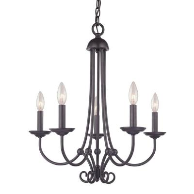 Williamsport 5-Light Oil Rubbed Bronze Ceiling Chandelier