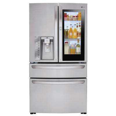 23 cu. ft. 4-Door French Door Smart Refrigerator with InstaView Door-in-Door in Stainless Steel, Counter Depth