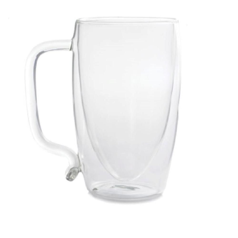 17 oz. Double-Wall Glass Beer Mug