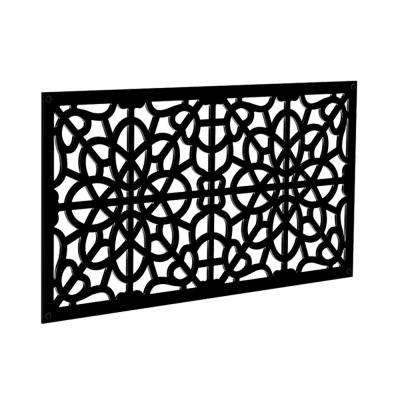 4 ft. x 2 ft. Black Fretwork Polymer Decorative Screen Panel