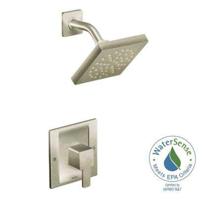 90-Degree 1-Handle Shower Faucet Trim Kit in Brushed Nickel (Showerhead and Valve Not Included)
