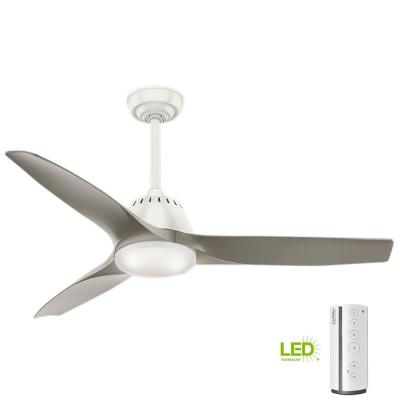 Wisp 52 in. LED Indoor Fresh White Ceiling Fan with Remote