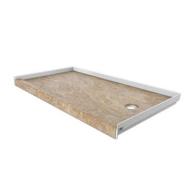 30 in. x 60 in. Single Threshold Shower Base with Right Hand Drain in Alaskan Ivory