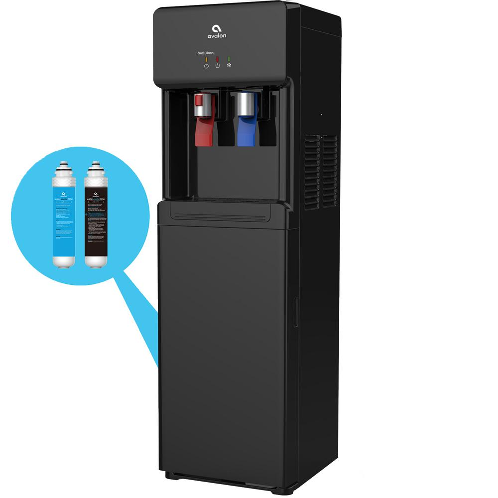 Self Cleaning Bottle Less Water Cooler Dispenser with Filter Hot/Cold Water