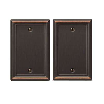 Chelsea 1 Blank Wall Plate in Aged Bronze (2-Pack)