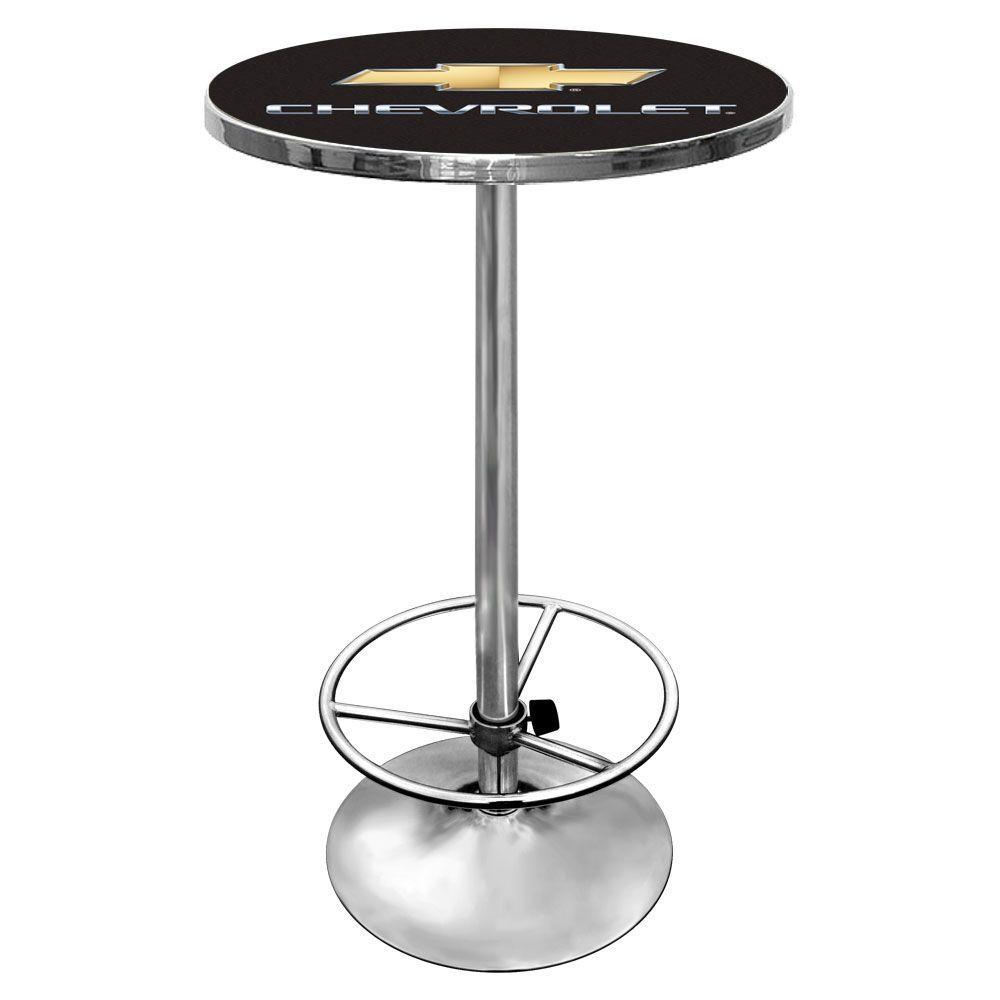 Chevrolet Chevy Chrome Pub/Bar Table