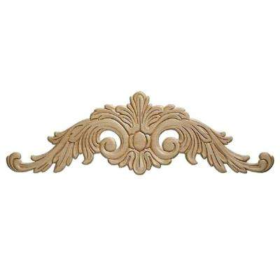 13802PK 9/32 in. x 23-5/8 in. x 7-11/16 in. Birch Acanthus Onlay Ornament Moulding