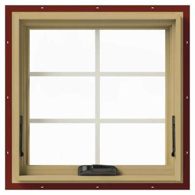24 in. x 24 in. W-2500 Awning Aluminum Clad Wood Window