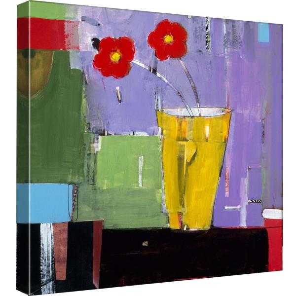 15 in. x 15 in. ''Red Bouquet II'' Printed Canvas Wall Art