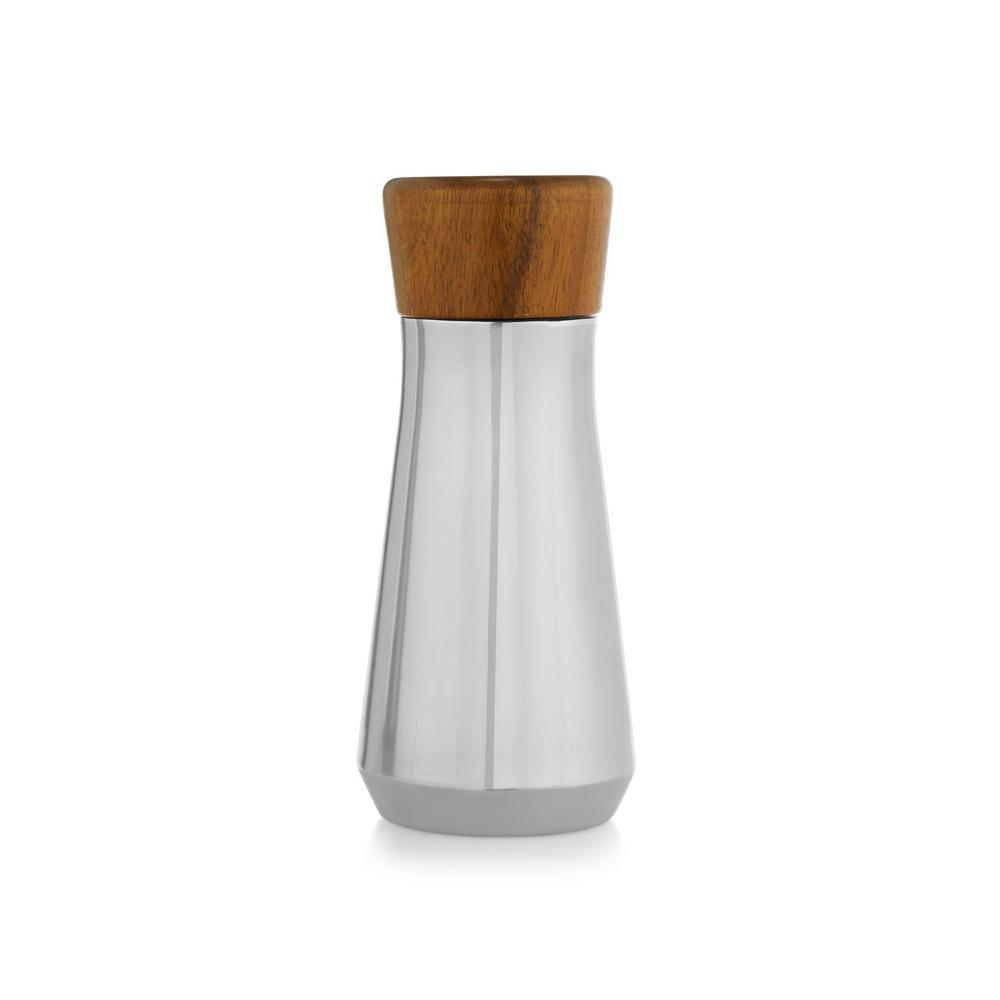 Vie 9 in. Stainless and Wood Cocktail Shaker