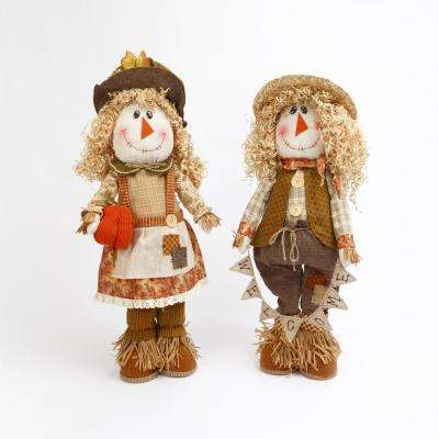 21 in. H Plush Standing Scarecrow (Set of 2)