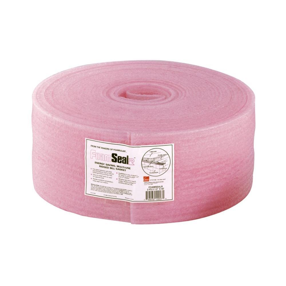 FoamSealR 5-1/2 in. x 50 ft. Multi-Use Ridged Sill Plate Gasket