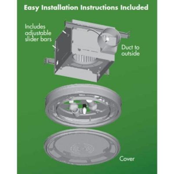 Hunter Riazzi Decorative 110 Cfm Ceiling Bath Fan With Cased Glass And Night Light 83001 The Home Depot