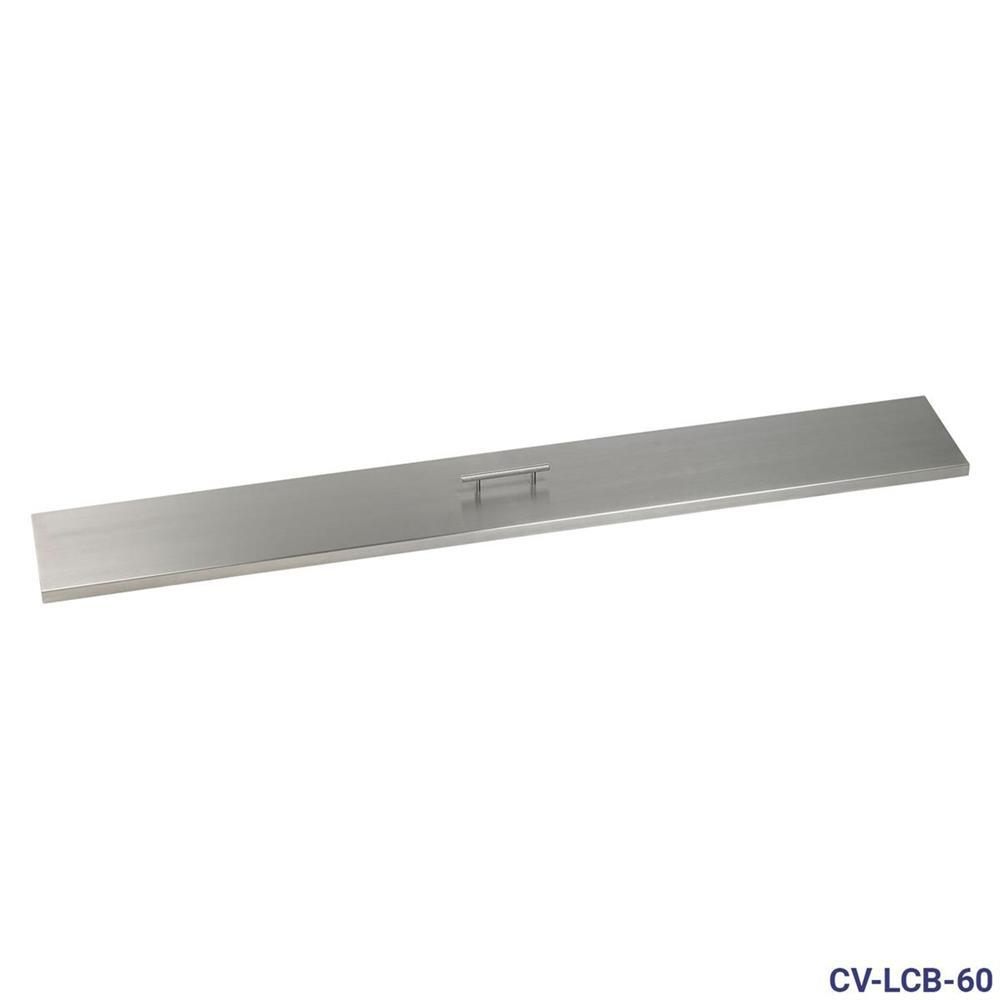 American Fire Glass 60 in. x 6 in. Stainless Steel Cover Linear Drop-In Fire Pit Pan