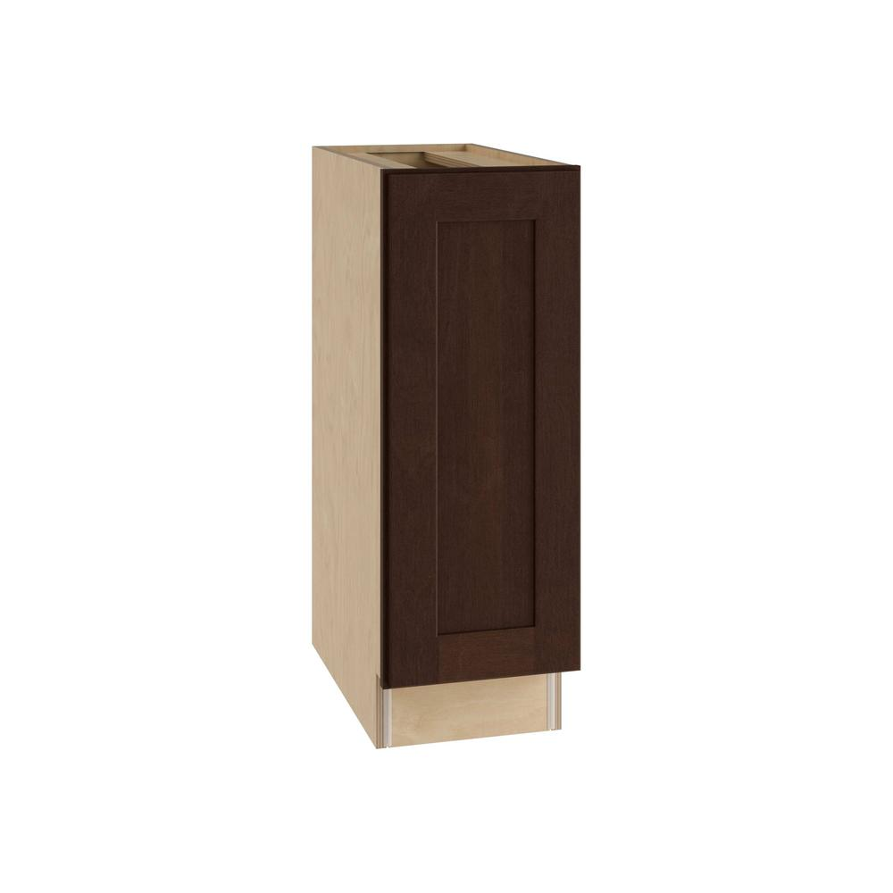 Franklin Assembled 12x34.5x24 in. Single Door Hinge Left Base Kitchen Cabinet