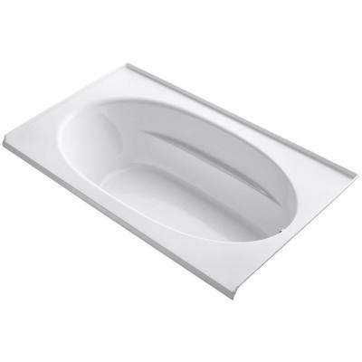 Windward 6 ft. Right-Hand Drain with Tile Flange Bathtub in White