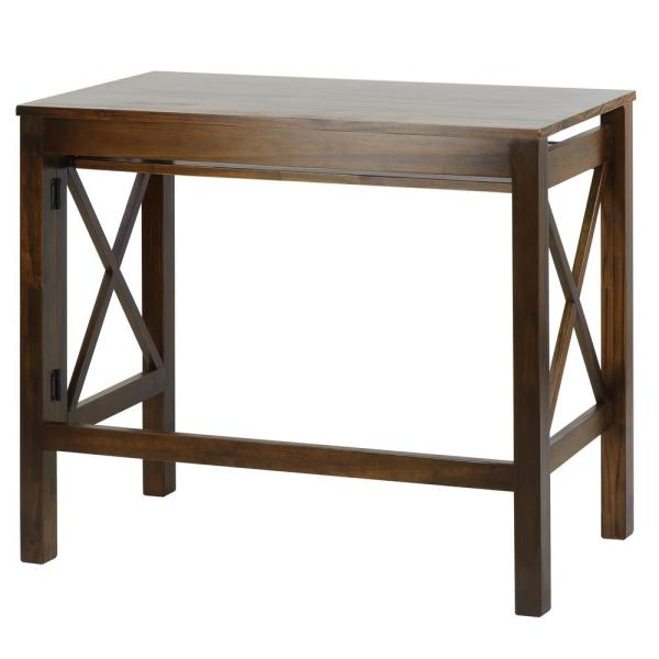 Casual Home X-Design Warm Brown Folding Desk with Pull-Out 533-34