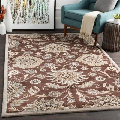 Cambrai Chocolate 2 ft. x 4 ft. Hearth Indoor Area Rug