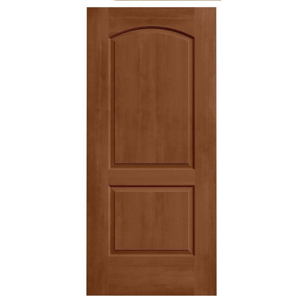36 in. x 80 in. Continental Hazelnut Stain Molded Composite MDF Interior Door Slab