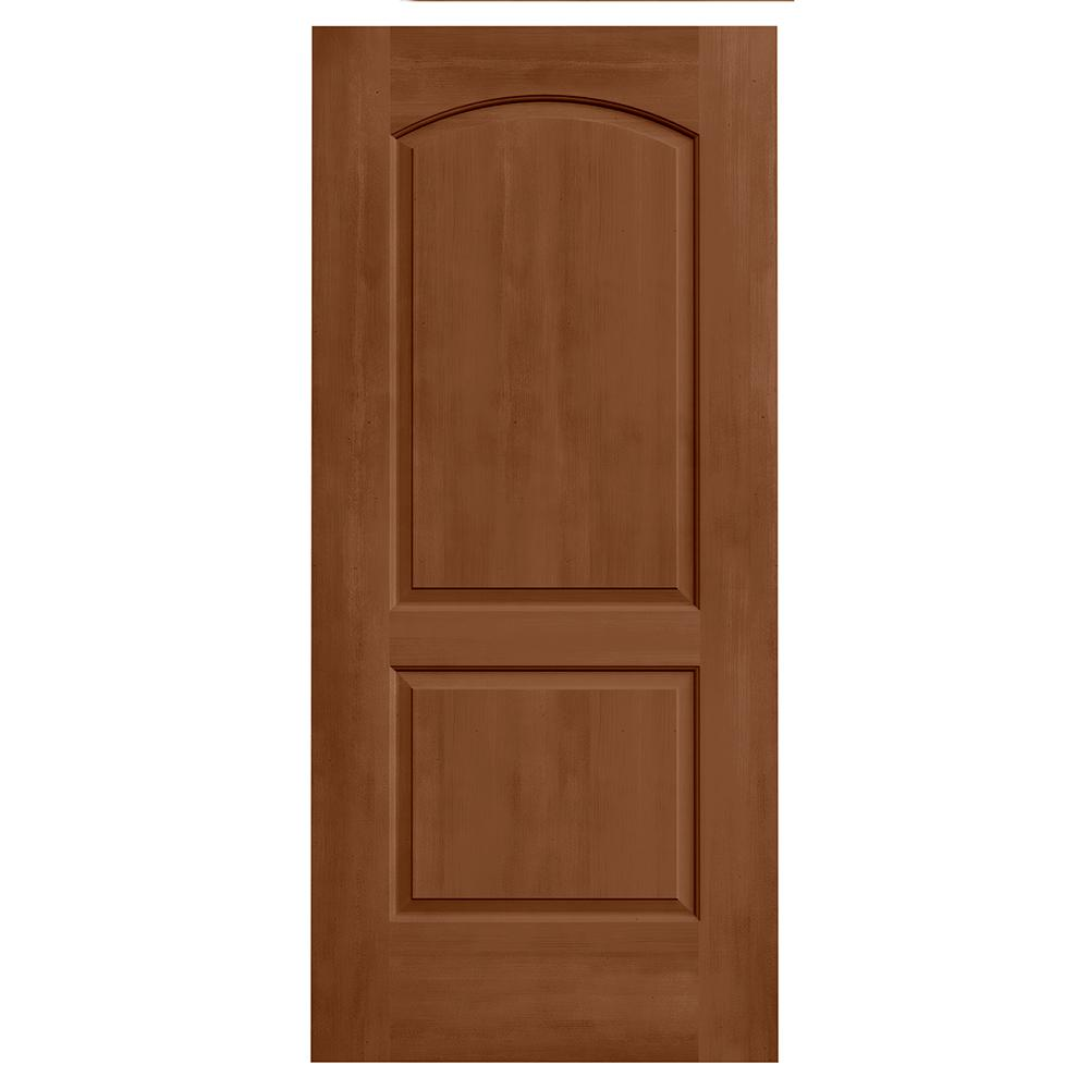 36 in. x 80 in. Continental Hazelnut Stain Solid Core Molded