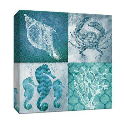 15 in. x 15 in. ''Nautical Quad II'' By Canvas Wall Art