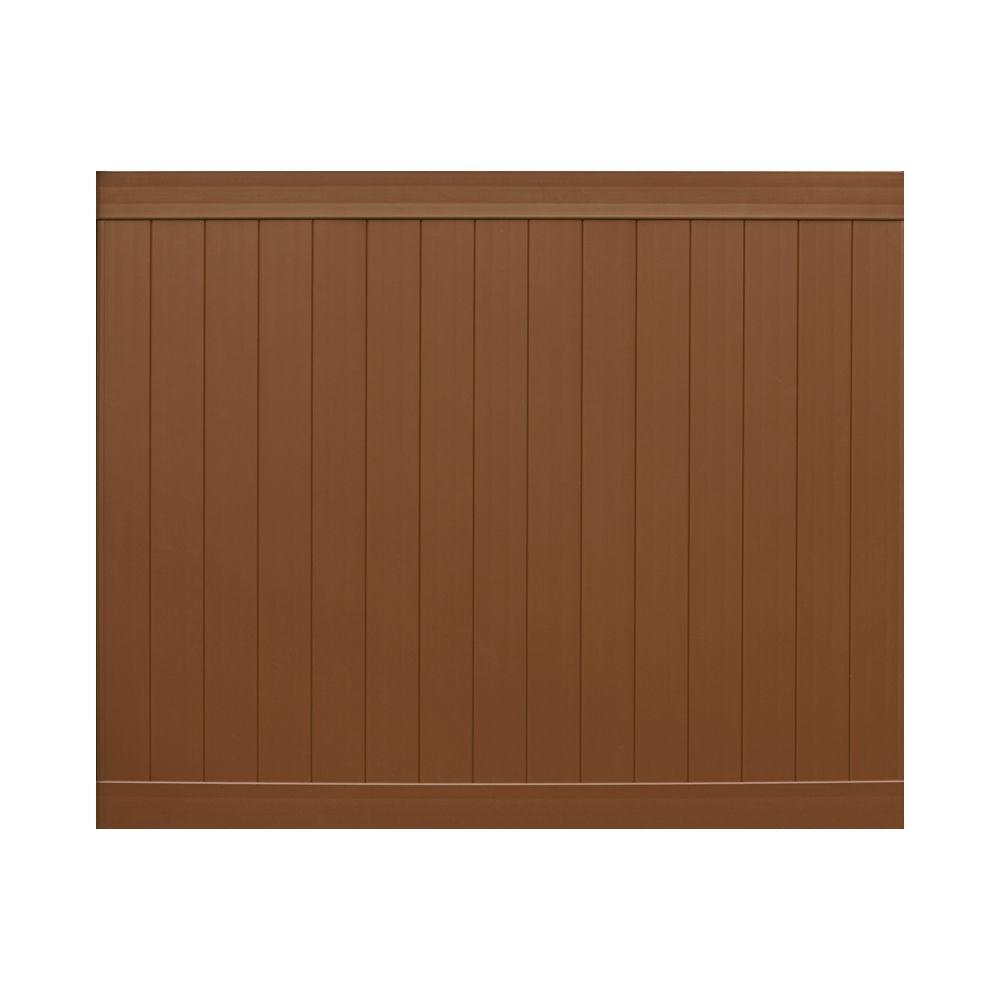 Veranda Pro Series 6 Ft H X 8 Ft W Brown Vinyl Anaheim