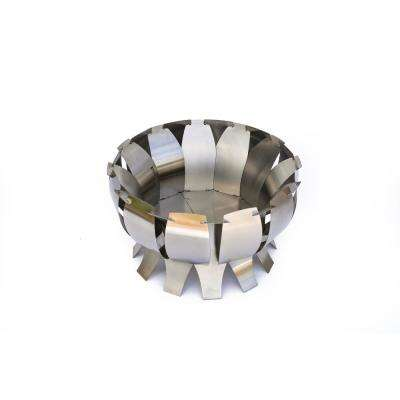 Tanami 28 in. x 17 in. Round Steel Fire Pit in Stainless Steel