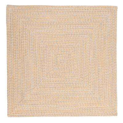 Marilyn Tweed Sunflower 8 ft. x 8 ft. Square Braided Rug
