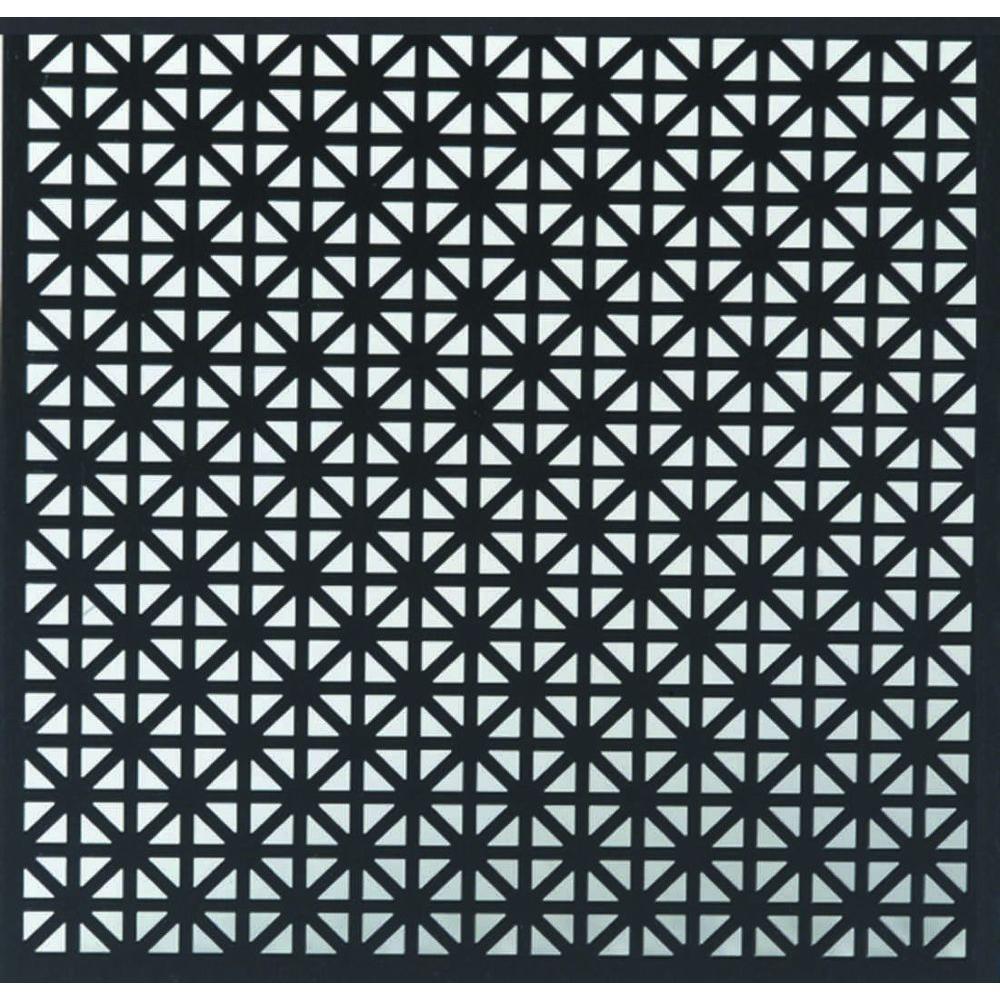 12 in. x 24 in. Union Jack Aluminum Sheet in Black