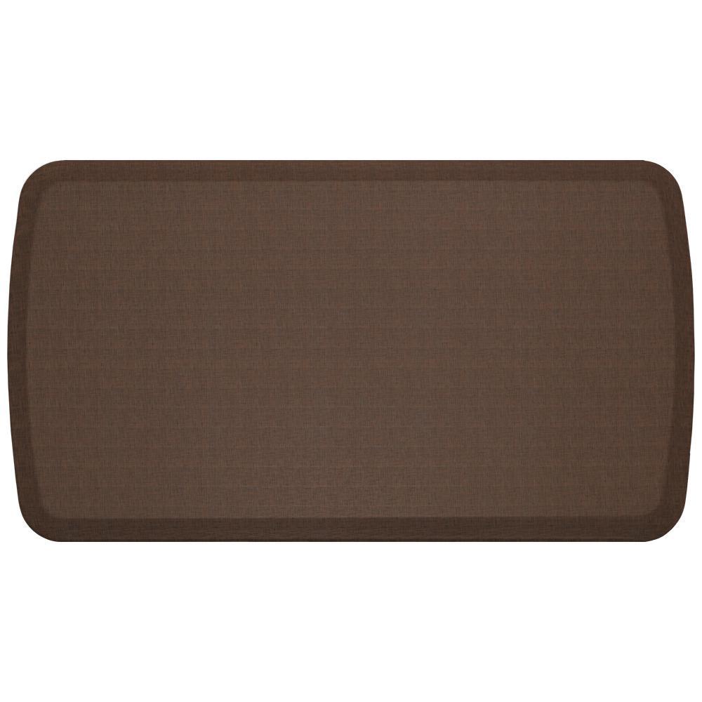 Elite Linen Truffle 20 in. x 36 in. Comfort Kitchen Mat