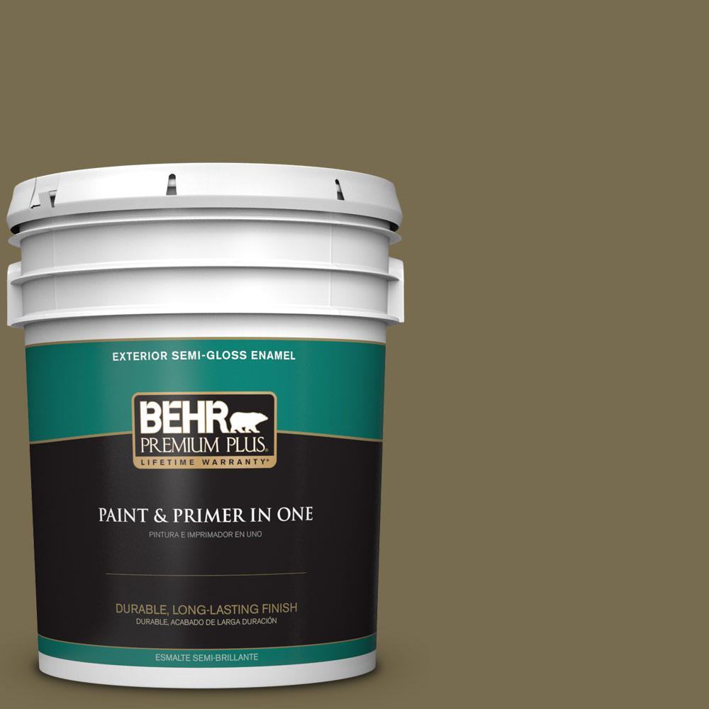 5 gal. #PPU8-01 Olive Semi-Gloss Enamel Exterior Paint