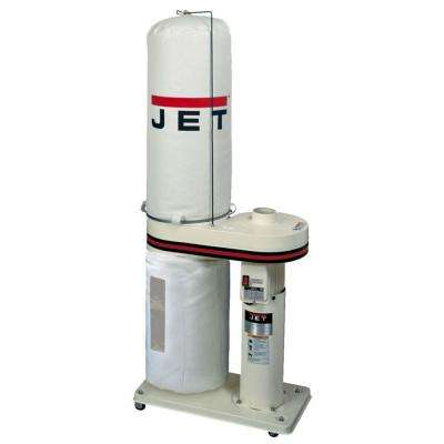 1 HP 650 CFM 4 in. Dust Collector with 30-Micron Bag Filter Kit, 115/230-Volt, DC-650BK