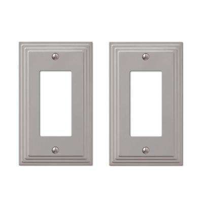 Tiered 1 Decora Wall Plate in Satin Nickel Cast (2-Pack)