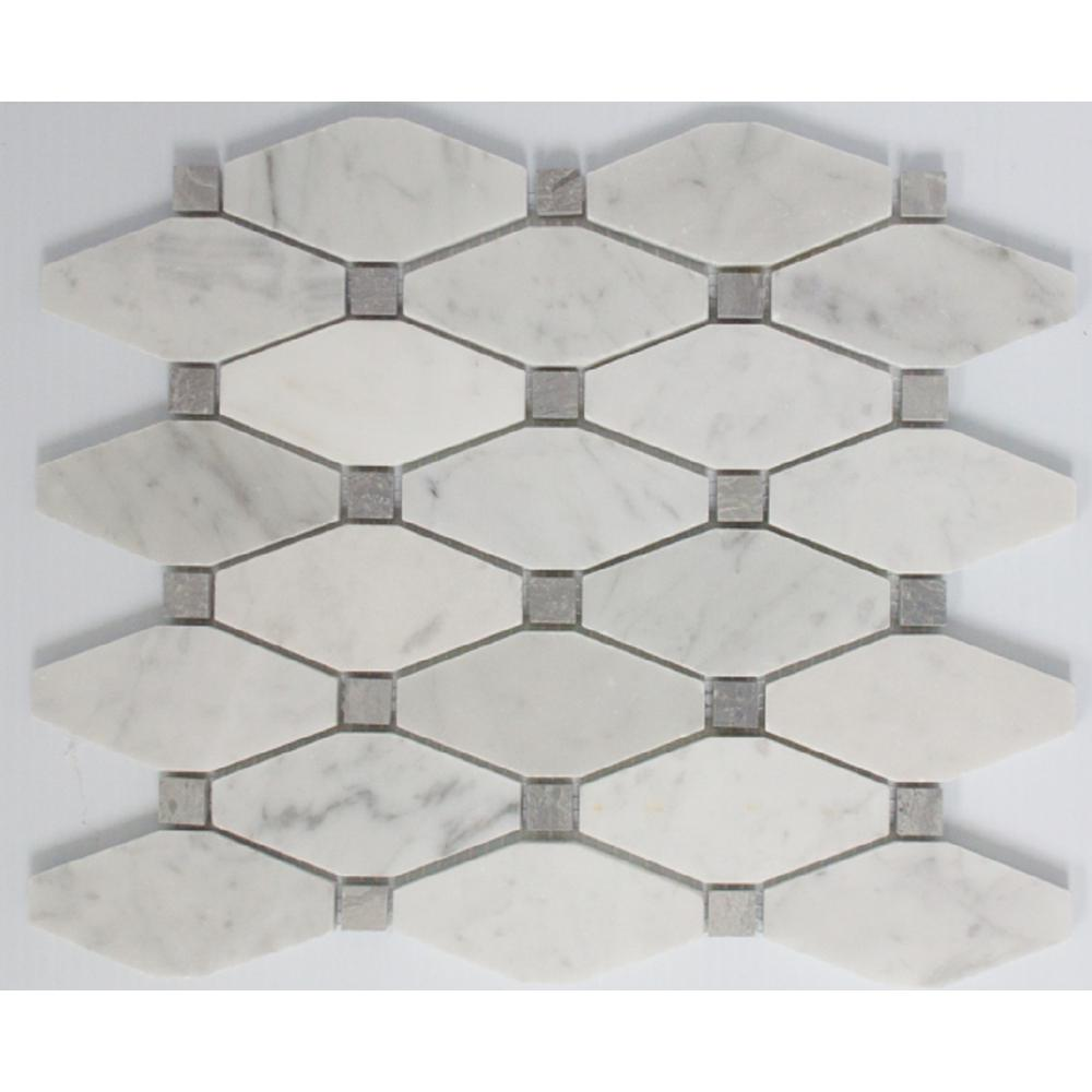 Ltl home products 11 in x 12 in x 10 mm tile esque carrara marble ltl home products 11 in x 12 in x 10 mm tile esque carrara dailygadgetfo Image collections