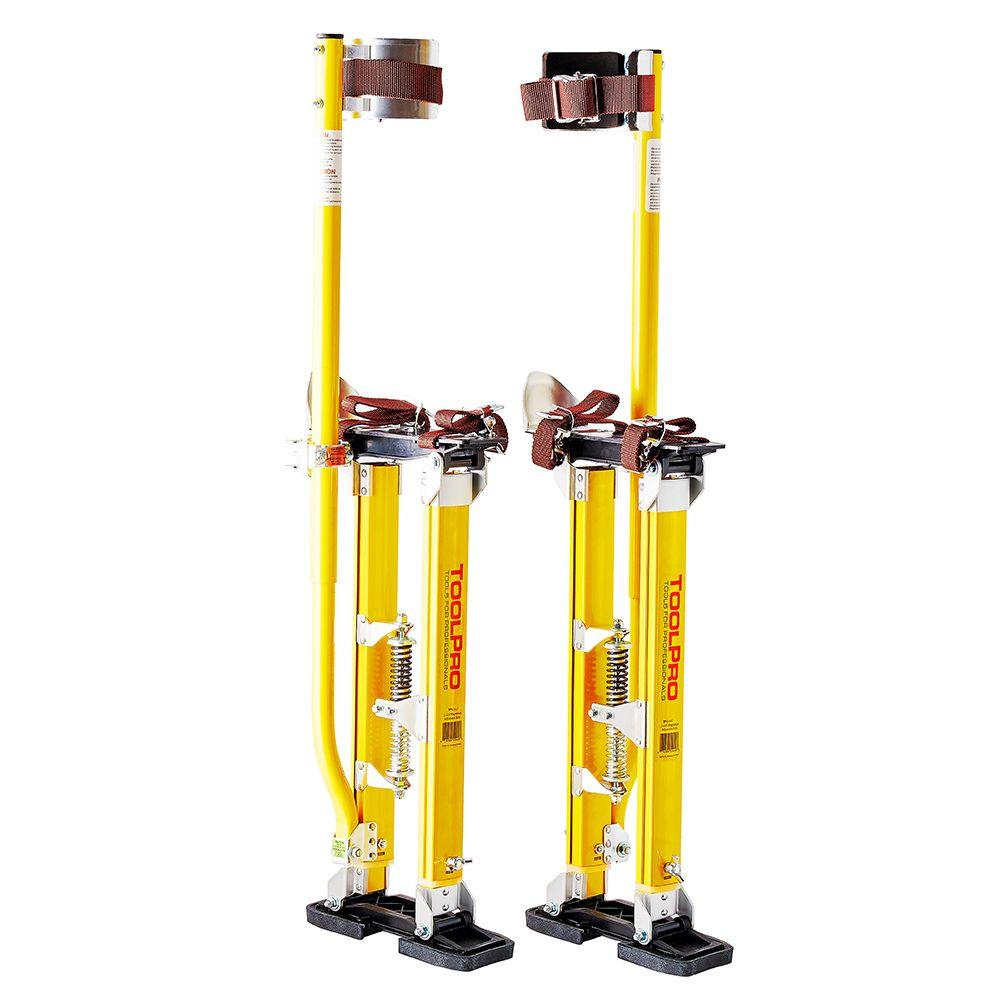 ToolPro 24 in. to 40 in. Magnesium Adjustable Drywall Stilts