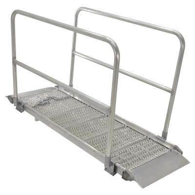 Alum Grip Walk Ramp with Rail 29.38 in. x 85 in.