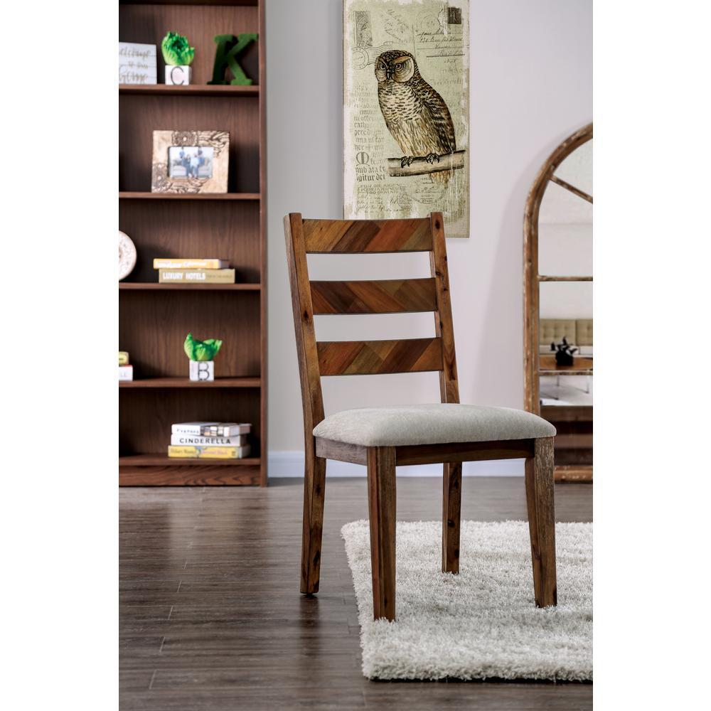 Pauletta Light Oak Upholstered Side Chairs (Set of 2)