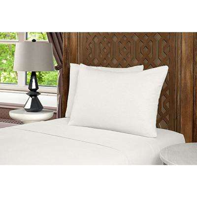 Geraldine 100% Cotton White Flannel Full Sheet Set