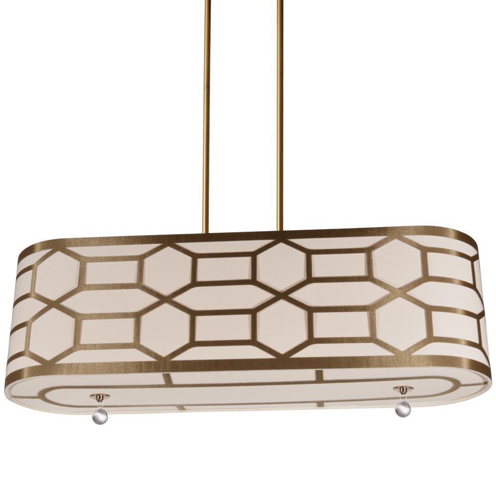 4-Light Classic Gold Pendant